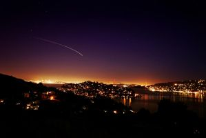 Tiburon night skies by InspiraSean