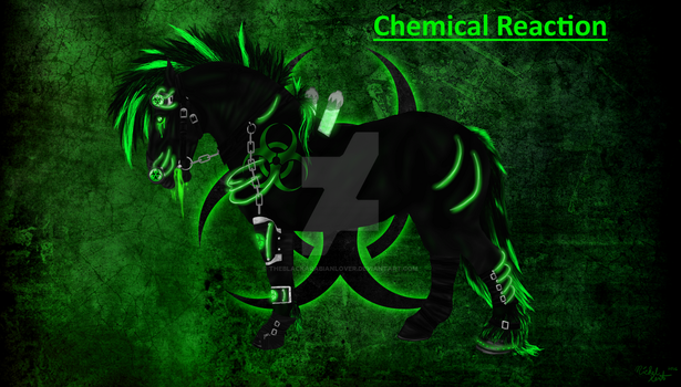 Chemical Reaction- NEW DESIGN (Horse Version) v2 by theblackarabianlover