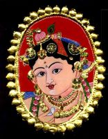 Tanjore Painting by Vermillioned