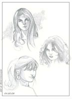 Three Faces - Sketchin' Fun by MichaelCrichlow