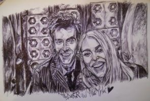 The Doctor and Rose by Sallysammy