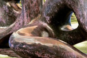 Kew Gardens Henry Moore Bronze In Living Colour by aegiandyad