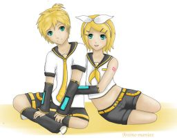 Rin and len by Stalaxy