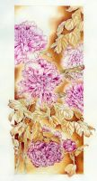 Painting Peonies with Beetroot and Tea by Heliocyan
