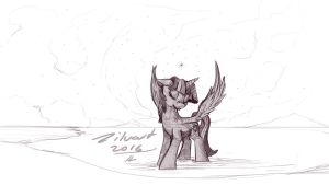 Twilight wonder (sketch) by zilvart