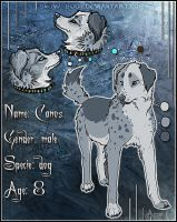 Ref Sheet: Canos by Snow-Body
