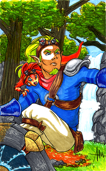 Jak and Daxter by Silverwingfox