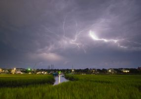 Shem Creek Lightning by Carise