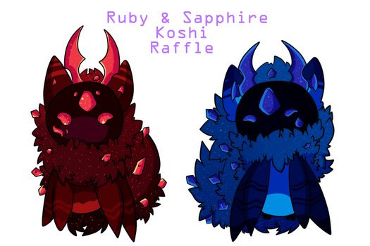 Ruby and Sapphire Koshi Raffle Winners Drawn by Littlelostdemonchild
