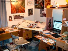 My Messy Workspace by JowieL