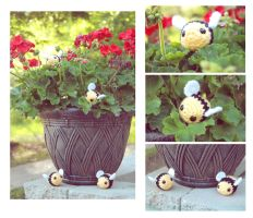 Bumble Bees - FOR SALE IN ETSY SHOP by theyarnbunny