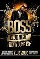 Boss Night  Party Flyer Template-BLACK by ImperialFlyers