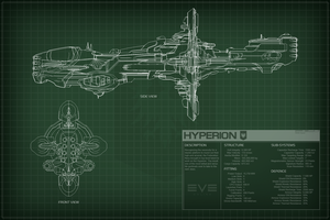EVE Online Hyperion Schematics by Titch-IX