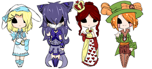 Wonderland Girls Adopt Collab .:SOLD OUT:. by lucidnymphs