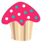 Polkadot Cupcake by WordDraw