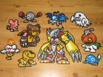 Digimon Bead Sprites by gfroggy87