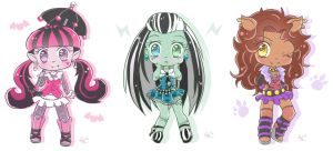 Monster High Chibis by ForbiddenDesirers
