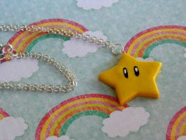 Invincibility Star Necklace by CharmingLittleFox
