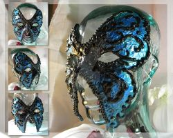 Blue Swallowtail Mask by thedustyphoenix