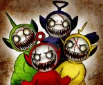 Zombies Teletubbies by Eilyn-Chan