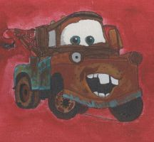 Tow Mater in Progress 2 by pudgeamericanbulldog