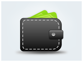 Wallet Icon by customicondesign