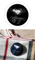 Snape Silver Doe Always Button by kittykat01
