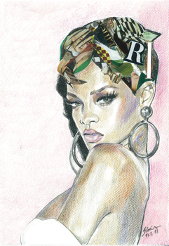 Rihanna Scan by Slavenart