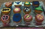 Superhero Cupcakes by Psychic-MoonShadow