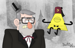 GF: Grunkle Stan and Bill Cipher by risaXrisa