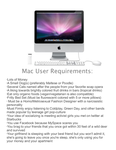 Mac User Requirements by TheGrayson