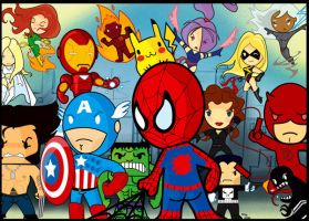 Marvel heroes by marcocano