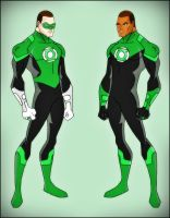 Green Lantern - Hal Jordan and John Stewart by DraganD