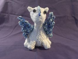 Amigurumi Ice Dragon by PerilousBard