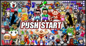 Push Start Poster by LeoCamacho