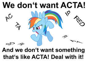 Ponies vs. ACTA by Starfighter-Suicune