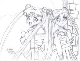sailor moon and serena by aliciamarie923