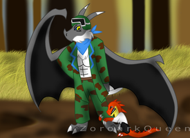 .: Commish :. Frozkee and young Dynamo by ZoroarkQueen