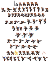 Axl 16-bit sheet by DanmanX5792