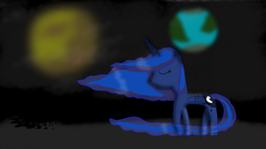 Princess Luna on the Moon by The-Everlasting45