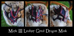 Mark III Leather Great Dragon Mask by Epic-Leather