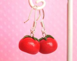 Tomato Earrings by Shembre