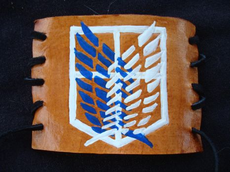 Attack On Titan Recon Corps Leather Cuff by RebelATS