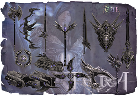 TERA Elleon weapon skins  by Tiffli