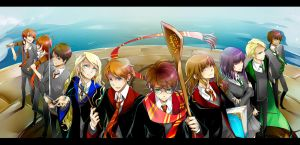 hogwarts students by dannysora