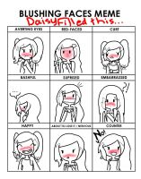 Blushing Faces meme with Daisy by Ask-Daisy-The-Hybrid