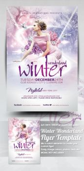 Winter Wonderland Flyer Template by mrkra