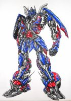 Age of extinction Optimus Prime by kishiaku