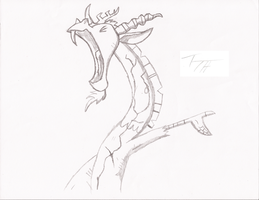 Discord Statue Sketch by TopHatius