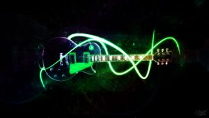 Green Guitar by csys-279